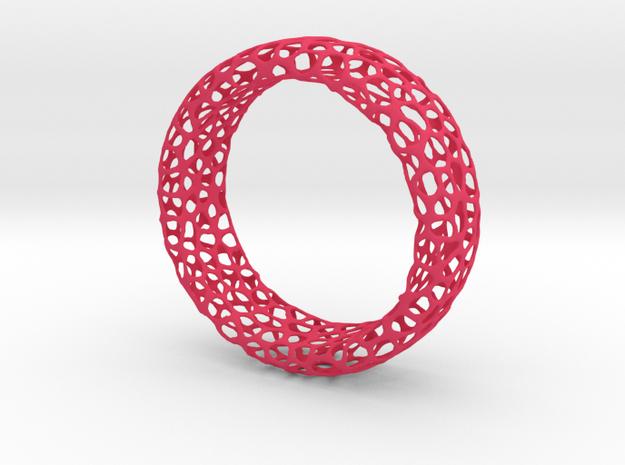 Voronoi Ring in Pink Processed Versatile Plastic