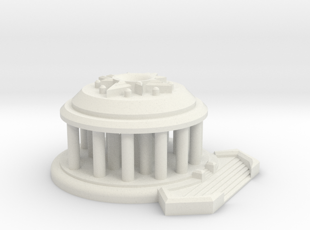 Temple of the Sun Large Model Display Piece in White Natural Versatile Plastic