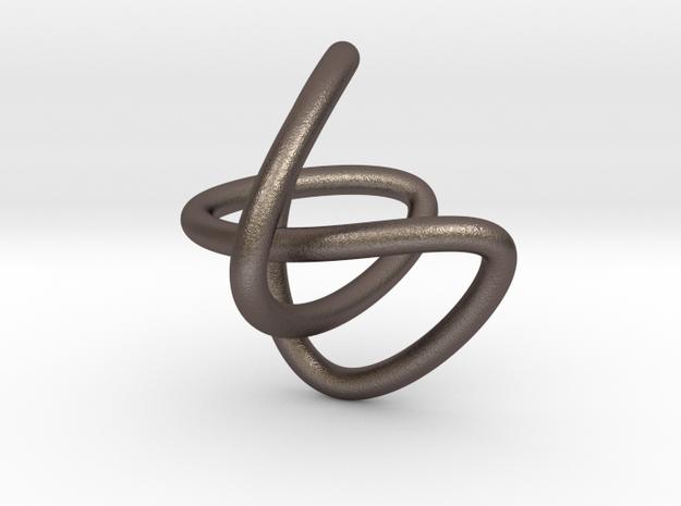knot II plain in Polished Bronzed Silver Steel