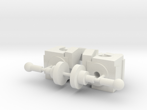 Fists - Small Voyager in White Natural Versatile Plastic