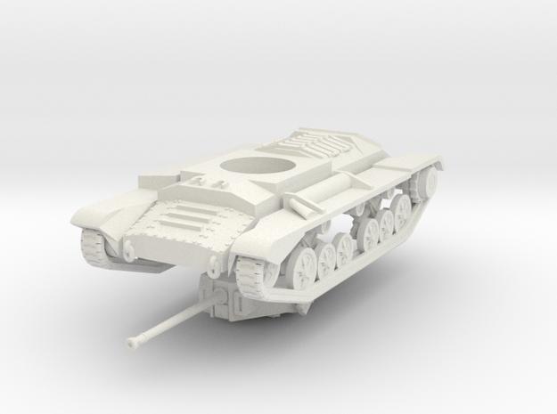 Vehicle- Valentine Tank MkXI (1/87th) in White Natural Versatile Plastic