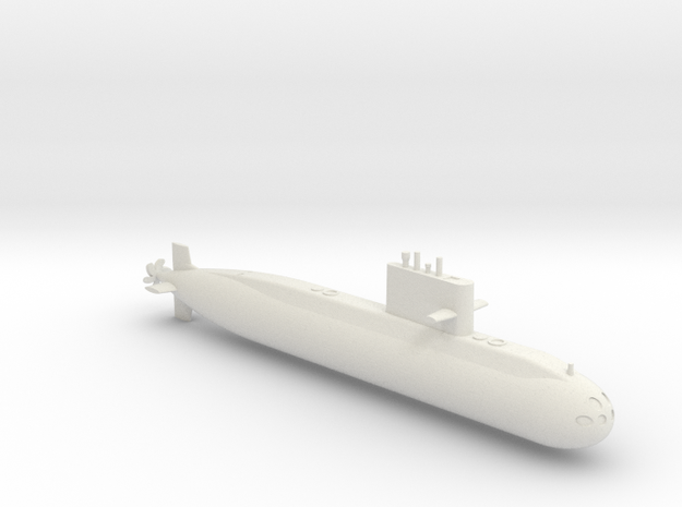 1/700 Type 039A Class Submarine in White Natural Versatile Plastic