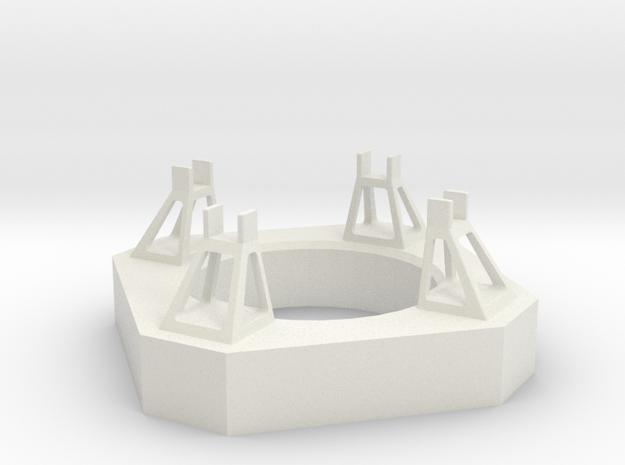 1/400 Von Braun Launch Pad in White Natural Versatile Plastic