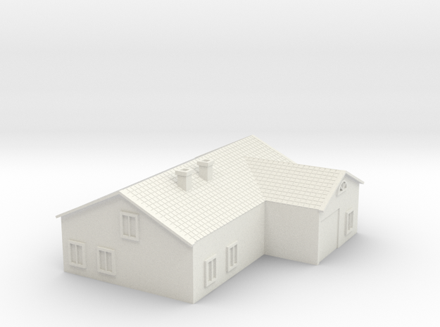 House 3 in White Natural Versatile Plastic