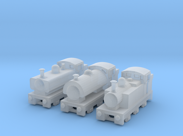 T-gauge Mix Tank Engines - Uses Eishindo Wheels in Smooth Fine Detail Plastic
