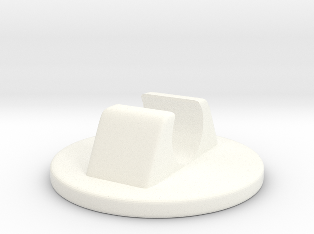 Plastic Glide for the Knoll Butterfly Chair in White Processed Versatile Plastic