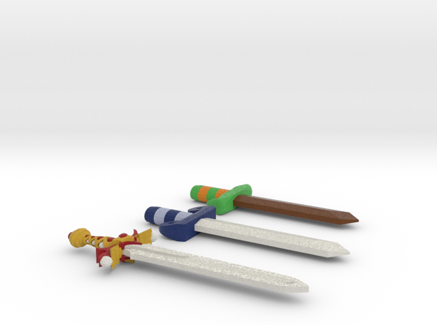 Zelda Fan Art: TLoZ: Swords in Full Color Sandstone