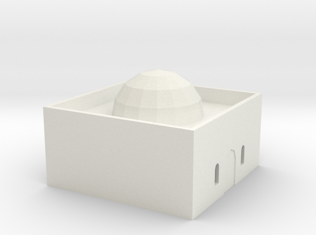 Desert House 4 in White Natural Versatile Plastic