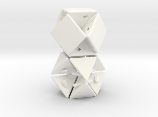 Cuboctahelix 3d printed