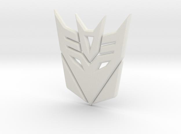 Decepticon Logo in White Strong & Flexible