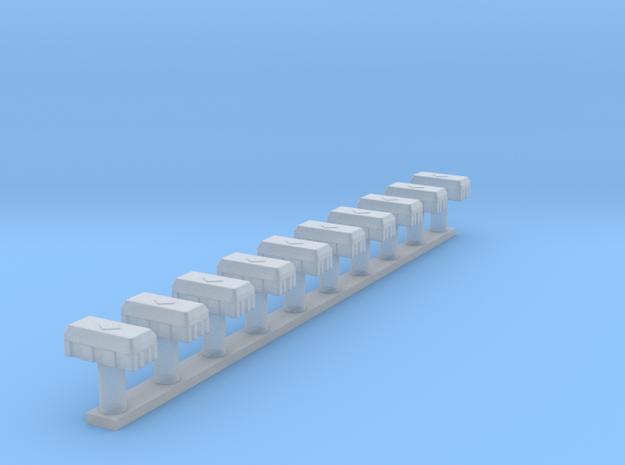 5950-Z-87_Feuerlöscherbox 1-87 Jockel 10x in Smooth Fine Detail Plastic