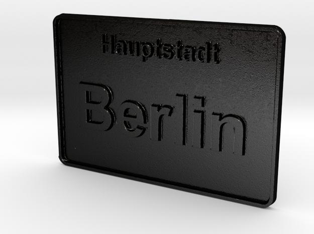 Hauptstadt Berlin 3D in Matte Black Steel