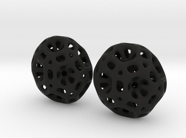 Coral Hex Earrings 3d printed
