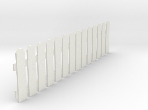 Fence 3 in White Natural Versatile Plastic