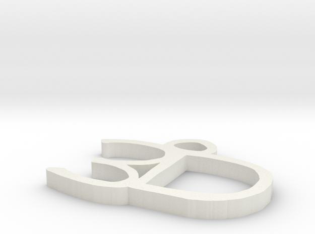 3D Charm in White Natural Versatile Plastic