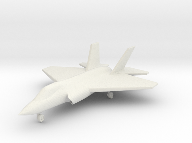 1/285 (6mm) F-35C w/Landing Gear in White Natural Versatile Plastic