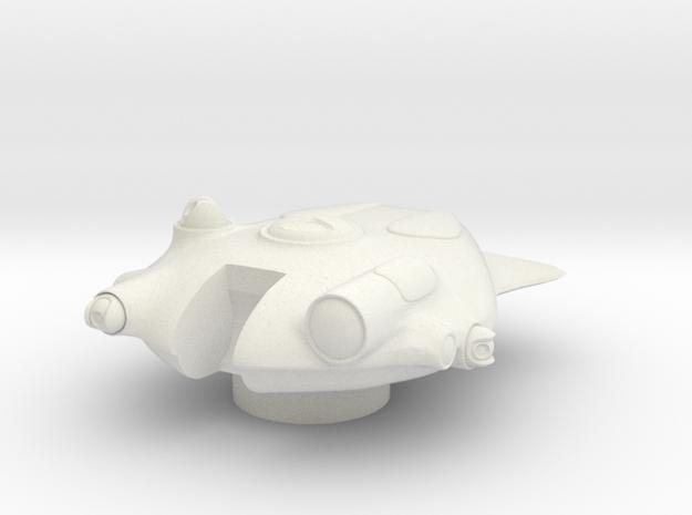 15mm Alien Tank - Turret in White Natural Versatile Plastic
