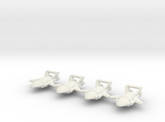Xxcha Carrier Fleet in White Natural Versatile Plastic