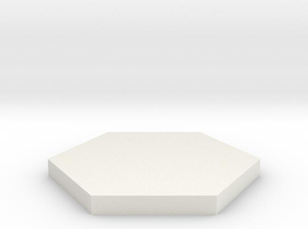 Hex in White Natural Versatile Plastic