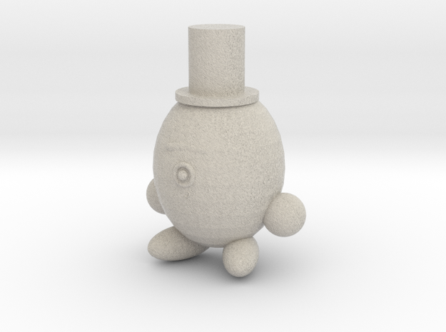 Alien With A Top Hat in Sandstone