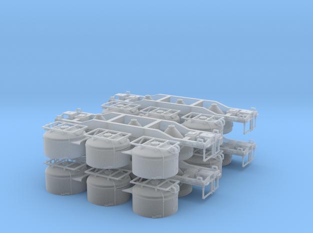 HWCX Cement Hopper (4) in Smooth Fine Detail Plastic