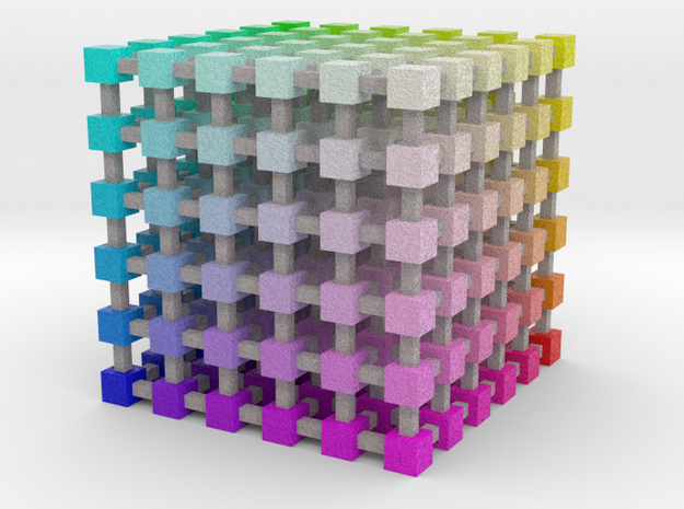 Web Safe Color Cube: 3.5 inch 3d printed