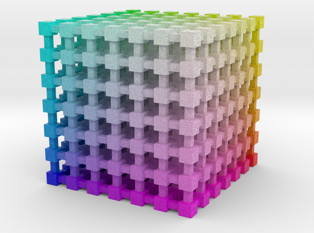RGB Color Cube: 2 inch 3d printed