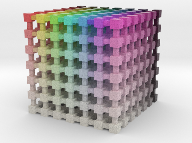 HSV/HSB Color Cube: 2 inch in Full Color Sandstone