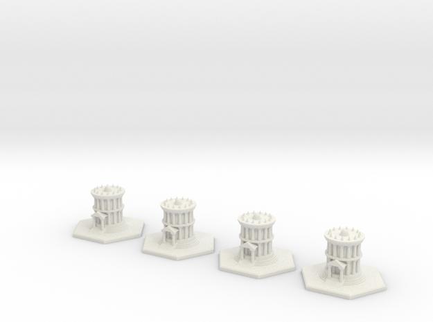 Attika Temples Full Set in White Natural Versatile Plastic