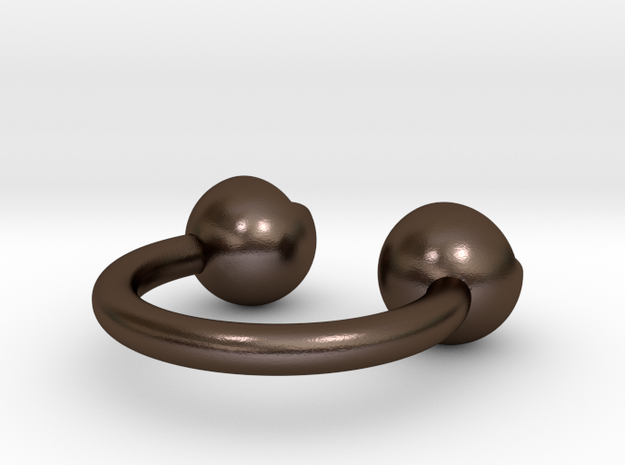 'a' double head ring 3d printed