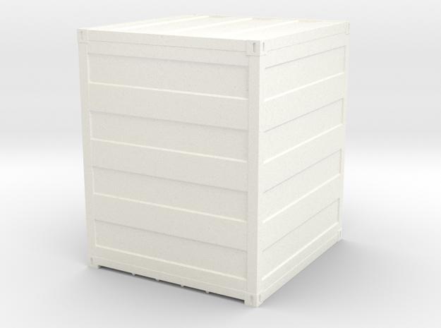 Container 10 ft scale 1:87 in White Processed Versatile Plastic