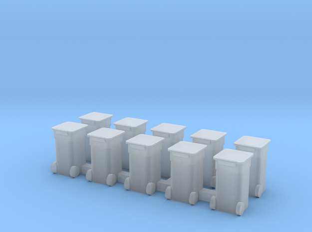 Rollaway Trash Bins N Scale 3d printed