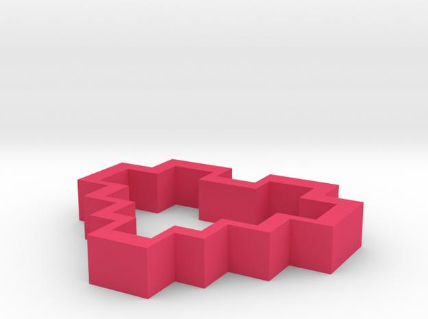 8 Bit Heart Pendant 3d printed