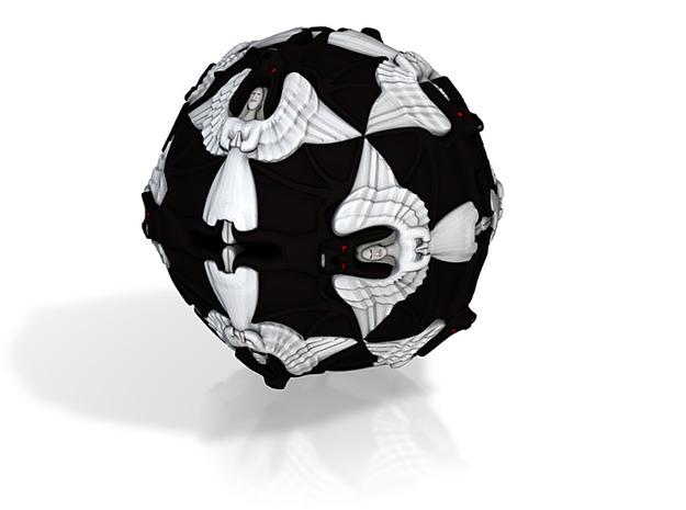 Escher Angels And Devils Ball 3d printed