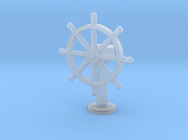 1:144 Scale Ship's Wheel 3d printed