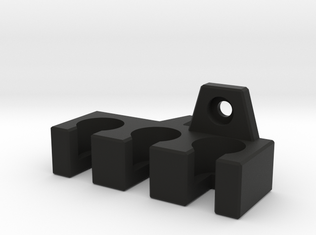 Cable Holder for Panasonic Monitor - LEFT in Black Natural Versatile Plastic