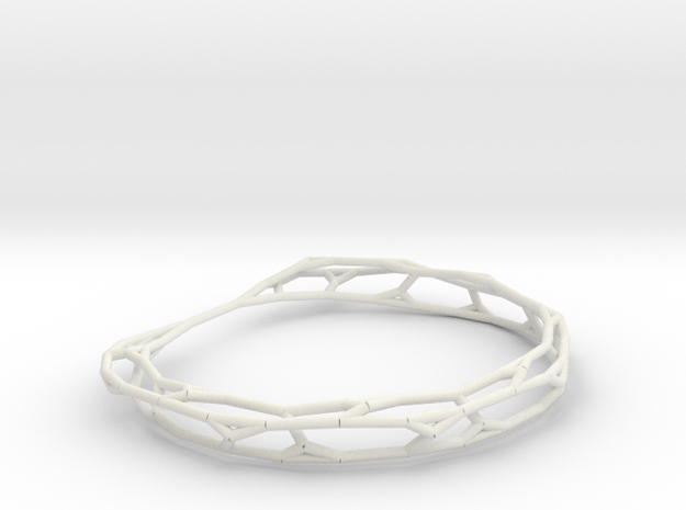 Fractal Wire Bracelet 3d printed