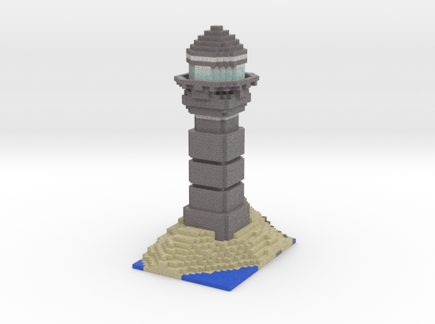 Minecraft Lighthouse  in Full Color Sandstone