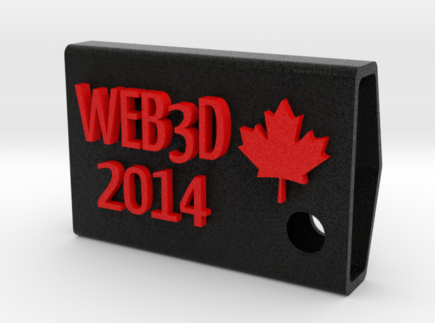 Web3D 2014 Key Fob V2 in Full Color Sandstone