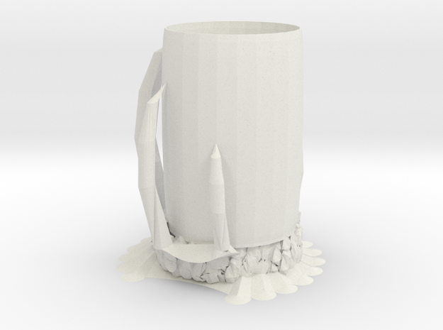 Monster Cup in White Natural Versatile Plastic