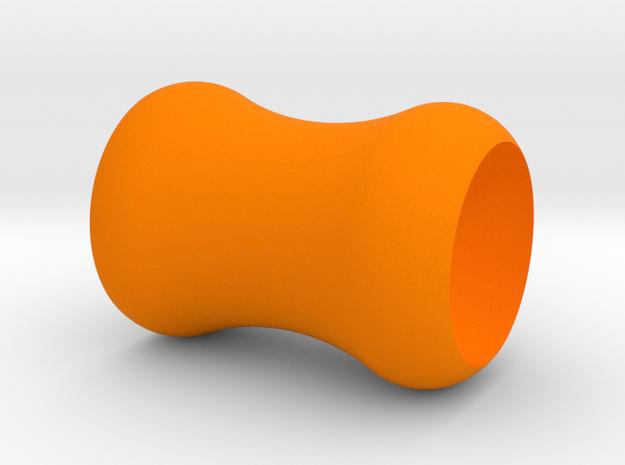Ear Plug Hearts 6mm in Orange Processed Versatile Plastic