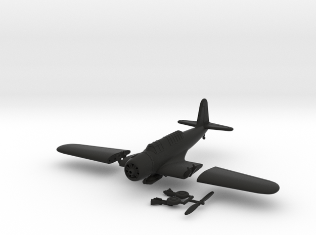 1/100 Vought SB2U Vindicator (folding wings) 3d printed