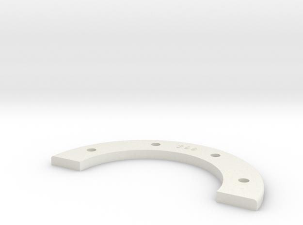Universal Retainer Ring Half - 1-8th Scale in White Natural Versatile Plastic