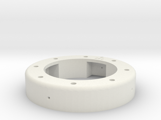 Universal Ring - 1-8th Scale in White Natural Versatile Plastic