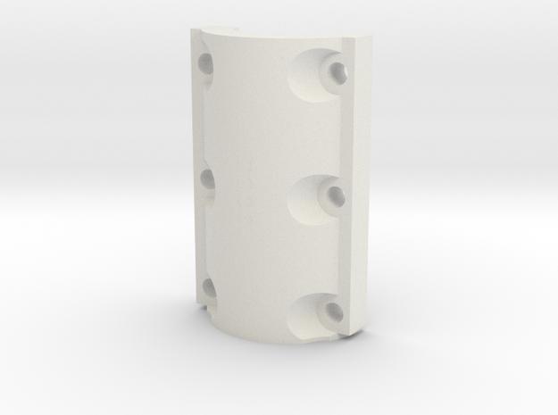 Climax F220 Cross Box Bottom Cap - 1-8th Scale in White Natural Versatile Plastic