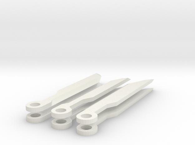 Assault Blades in White Natural Versatile Plastic
