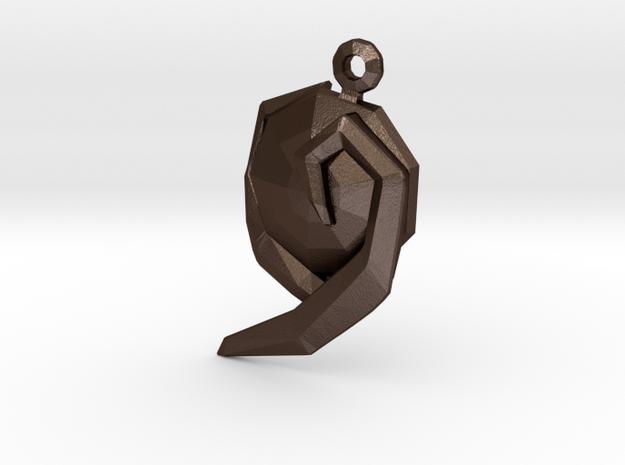 Zelda Farore Gem in Matte Bronze Steel