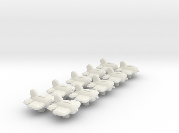 Xxcha Fighter Fleet in White Natural Versatile Plastic