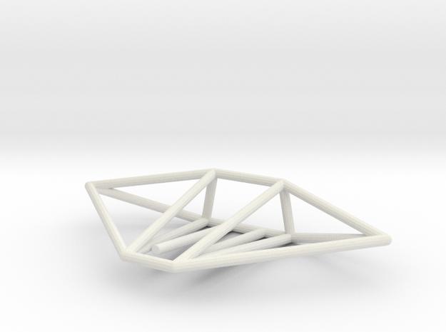 Gecko Wireframe 1-300 in White Natural Versatile Plastic