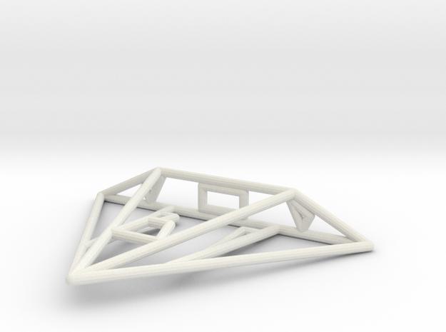 Mamba Wireframe 1-300 in White Natural Versatile Plastic